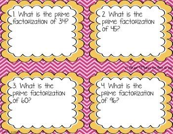 Prime Factorization, Greatest Common Factor & Least Common Multiple CCSS 6.NS.4