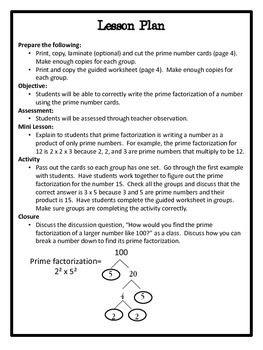 Prime Factorization- Hands-On Lesson