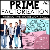 Prime Factorization Interactive Notebook Set