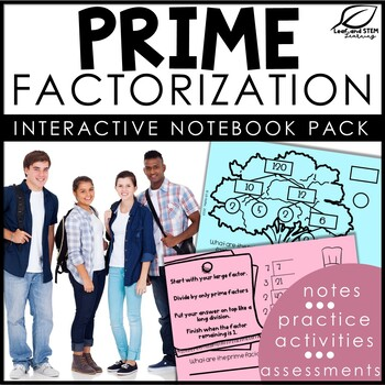 Prime Factorization Interactive Notebook Set