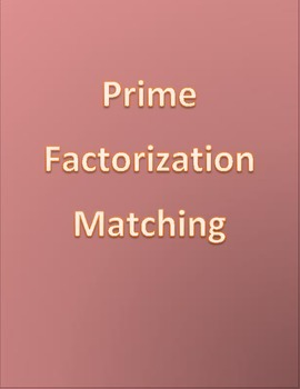 Prime Factorization Matching Game (16 problems)
