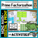 Prime Factorization Math Activities Puzzles and Riddle
