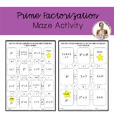 Prime Factorization Maze Activity