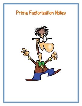 Prime Factorization Notes
