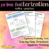 Prime Factorization Notes and Practice
