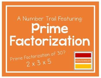 Prime Factorization Number Trail
