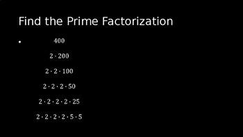 Prime Factorization - PowerPoint Lesson (3.4)