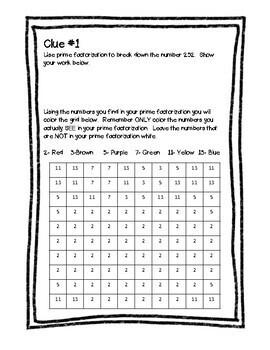 Prime Factorization Predicament Classroom Escape Room Challenge TEKS 6.7A