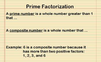 Prime Factorization Presentation