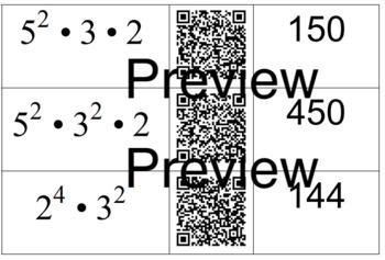 Prime Factorization QR Card sort