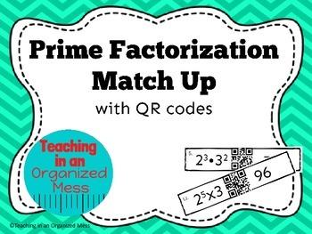 Prime Factorization QR Code Match Up