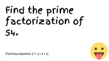 Prime Factorization Scavenger Hunt (with Emojis!)