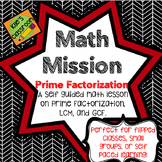 Prime Factorization - Self Guided Interactive Math Activity Math Mission