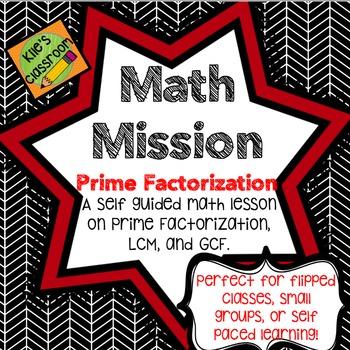 Prime Factorization - Self Guided Interactive Math Activit