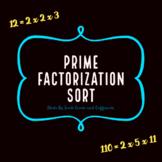 Prime Factorization Sort