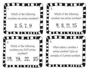 6th Grade Prime Factorization Task Cards 6.NS.B.4