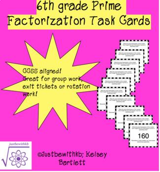 Prime Factorization Task Cards