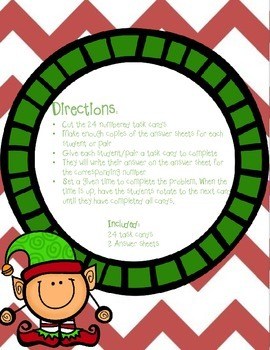 Prime Factorization Task Cards Christmas Themed