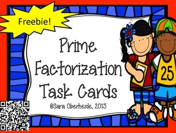 Prime Factorization Task Cards - Freebie