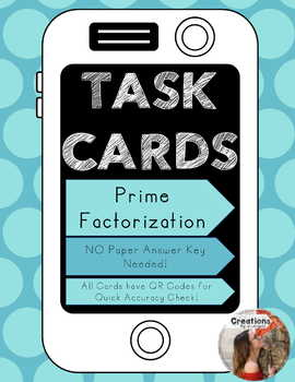 Prime Factorization Task Cards with QR Code