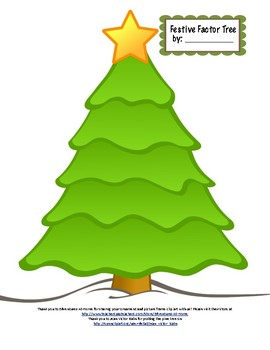 Factor Trees Prime Factorization Trees Christmas