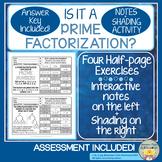 Prime Factorization Notes, Identification, Assessment