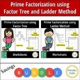 Prime Factorization Worksheets using Factor Tree and Ladder Method