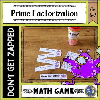 Prime Factorization Don't Get ZAPPED Math Game