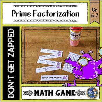 Prime Factorization ZAP Math Game