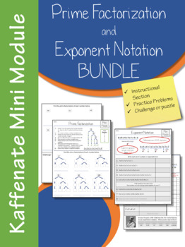 Prime Factorization and Exponent Notation-- Mini Module BUNDLE