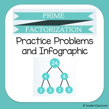 Prime Factorization and Factor Trees Practice and Infograp