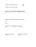 Prime Factorization and GCF Worksheet