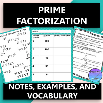 Prime Factorization with Exponents