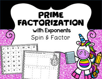 Prime Factorization with Exponents Spin Game