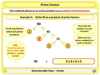 Prime Factors for Elementary School Math