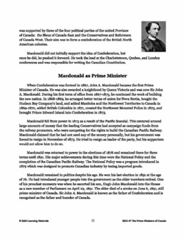 Sir John A. Macdonald Lesson Plan Grades 4-8