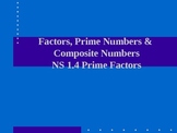 Prime Number, Composite Numbers and Factors