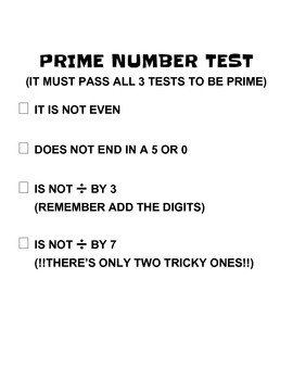 Prime Number Draw