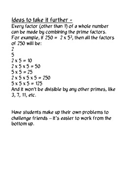 Prime Number Factorization