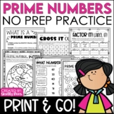 Prime and Composite Numbers Activities NO PREP Packet
