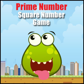 Prime Number & Square Numbers Math Game - Exploring Number Properties