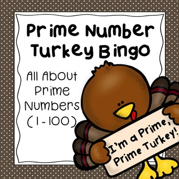 Thanksgiving Prime Number Turkey Bingo