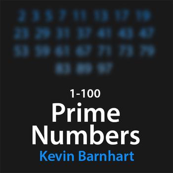 Prime Numbers 1-100 Rap Typography