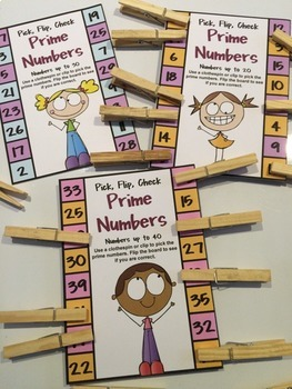Prime Numbers Clip Cards