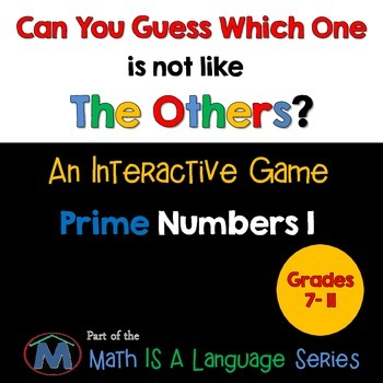Prime Numbers - Can you guess which one? Game I