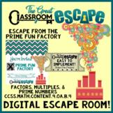 Prime Numbers, Factors & Multiples Digital Escape Room