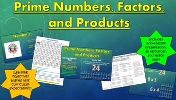 Prime Numbers, Factors, and Products
