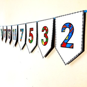Prime Numbers Pennant Banner