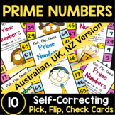 Prime Numbers Activity - Pick, Flip and Check Cards [Australian UK NZ Edition]