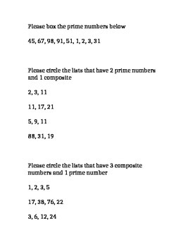 Prime Numbers Practice